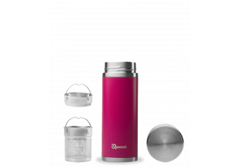 Pink steel isotherm travel mug