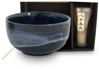 Matcha set 3 pieces Blue Bowl