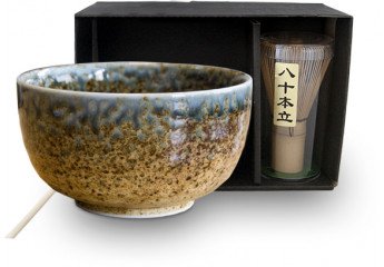 Matcha set 3 pieces Brown Bowl