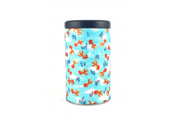 Washi paper tin - red...