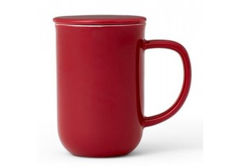 Red mug with filter 18 oz