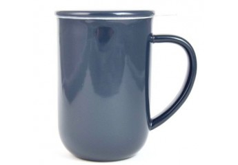 Grey Mug with filter 18 oz