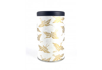 Washi paper tin - golden...