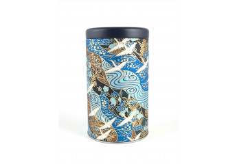 Washi paper tin - White,...