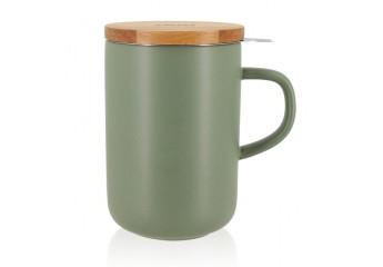 Green mug with filter 16 oz