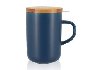 Blue mug with filter 16 oz