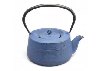 Blue cast iron teapot 0.6 L