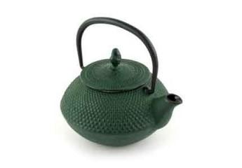 Green cast iron teapot 0.4L