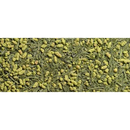 thé vert genmaicha bio au riz soufflé et matcha