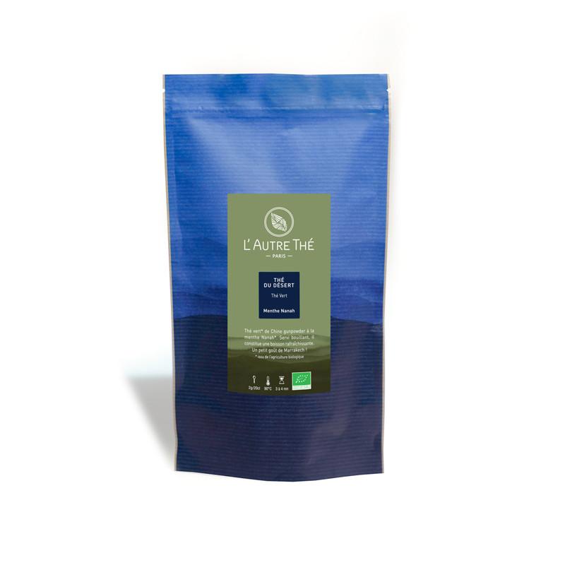Thé vert gunpowder bio à la menthe marocaine