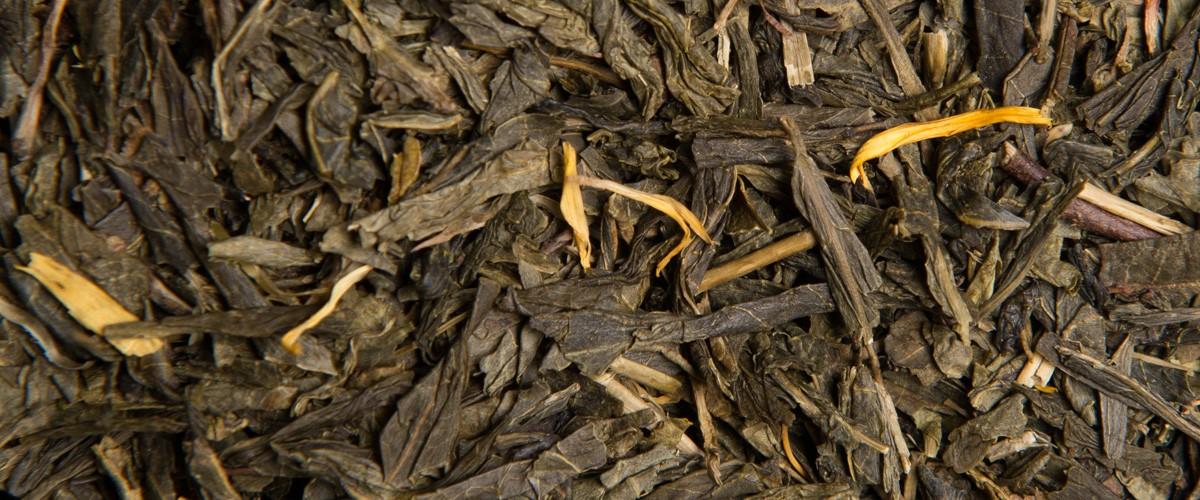 Thé vert bio à la mirabelle