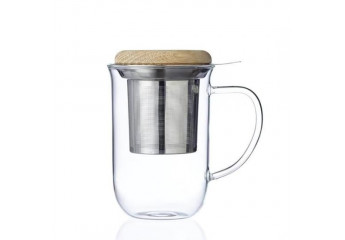 Glass Mug with filter 19 oz