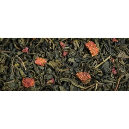 Thé vert bio en vrac aux fruits rouges