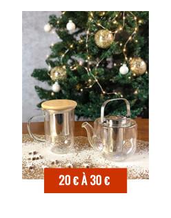 Idées cadeaux autour du thé entre 20 € et 30 €