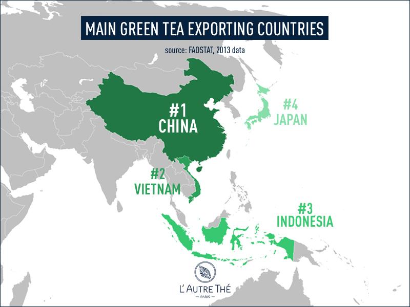 Main green tea exporting countries