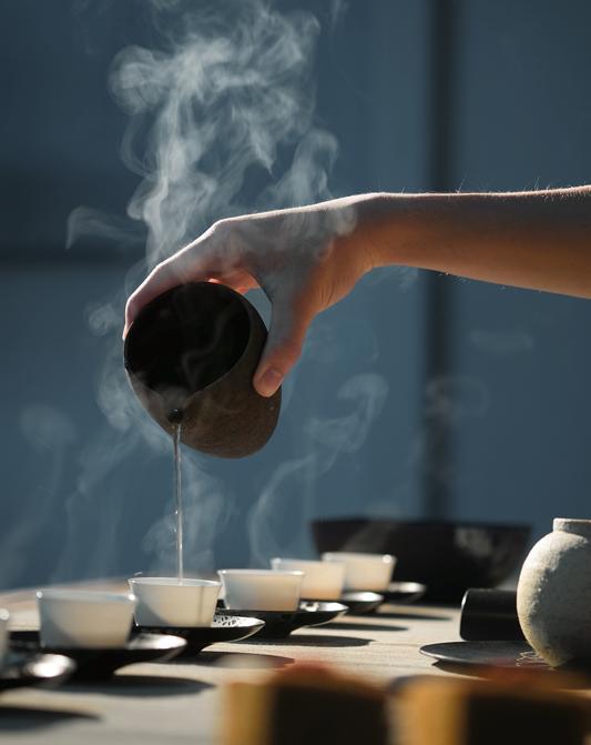 Service du thé fumé