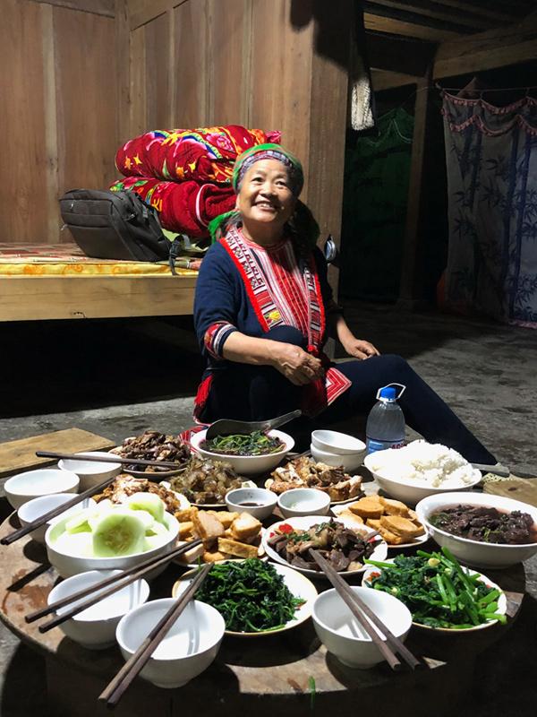Hồ Thầu - repas chez l'habitant