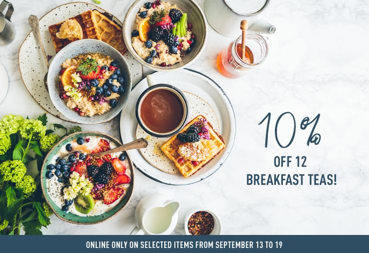 10% off 12 breakfast teas