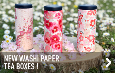 New washi paper tea boxes