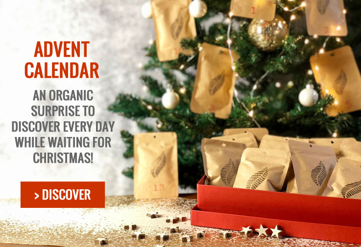 Advent calendar: an organic surprise to discover evry day while waiting for Christmas