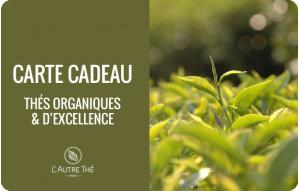 Carte Cadeau Thés Organiques & d'Exception